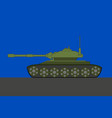 side view a tank - flat design vector image vector image