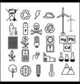 simple set of line icons theme of ecology vector image