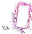 sketch smartphone vector image