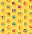Social Networking Hexagon Yellow Pattern vector image vector image