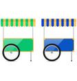 street cart street food kiosk vector image