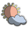 sun and cloud cartoon character vector image