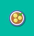 top view delicious matzoh ball soup vector image