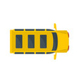 top view school mini bus icon flat style vector image vector image