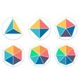 Triangle square pentagon hexagon heptagon vector image vector image