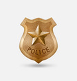 vintage bronze police badge with star vector image vector image
