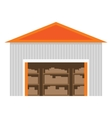 Warehouse flat icon vector image vector image