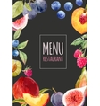 watercolor menu template vector image vector image