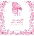 wedding invitation zentangle vector image vector image