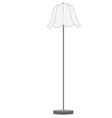 White floor lamp vector image