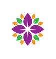 circle leaf colored logo image vector image