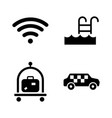 hotel service simple related icons vector image