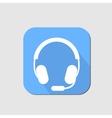 Headset flat icon vector image