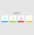 4 rosette icons vector image vector image