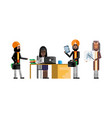 african and indian business team working in office vector image