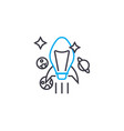 ambitious goals linear icon concept ambitious vector image