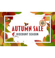 autumn sale banner design with discount label 02 vector image vector image