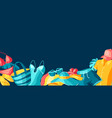 background with beachwear and swimwear summer vector image vector image