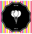 balloons symbol icon vector image
