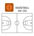 Basketball court and the plan field Sports ball vector image vector image