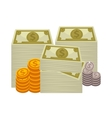 Big pile of cash Concept money vector image