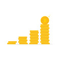 bitcoin benefits like gold coin stack vector image