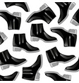 black boots pattern vector image vector image