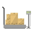 Boxes on the scales vector image vector image