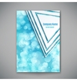 Bright banner template vector image vector image