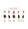 business woman character design set woman with vector image vector image