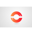 c orange alphabet letter logo icon design vector image vector image