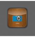 Camera wood application icons vector image