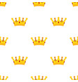 cartoon crown seamless pattern flat style vector image vector image