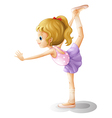 Cartoon Gymnast Girl
