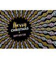 Christmas and new year gold tribal art background vector image vector image
