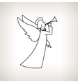 Christmas Angel on a Light Background vector image vector image