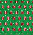 christmas geometric seamless pattern with gift vector image