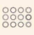 circular ornaments in mehndi style vector image