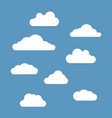 clouds set isolated on blue sky background vector image vector image