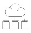 clouds with books vector image