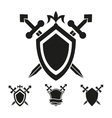 Coat of arms knight shield templates vector image vector image
