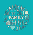 colorful family vector image vector image