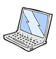 comic cartoon laptop computer vector image