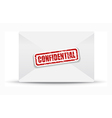 confidential white closed envelope vector image vector image