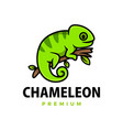 cute chameleon cartoon logo icon vector image vector image
