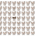 cute puppy seamless pattern vector image
