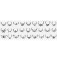 deers horns as decorations doodle set vector image