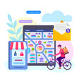delivery of goods from the online store vector image