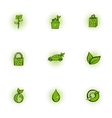 Environment icons set pop-art style vector image vector image