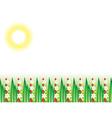 flowering grass field vector image vector image